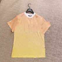 T-shirt S,M,L Summer 2021 Long sleeves V-neck Self cultivation Regular routine commute cotton 96% and above 18-24 years old classic Color matching, letters Other / other