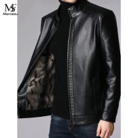 leather clothing Others Fashion City 170/M,175/L,180/XL,185/2XL,190/3XL,195/4XL have cash less than that is registered in the accounts Leather clothes stand collar Slim fit zipper spring Business Casual Straight hem Side seam pocket Multiple pockets No iron treatment