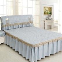 Bed skirt polyester fiber Nordic beige, Nordic pink, Nordic blue, Nordic gray Other / other Solid color Qualified products