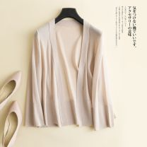 Wool knitwear Summer of 2018 S,M,L,XL,XXL White, gray, black, apricot Long sleeves singleton  Cardigan Viscose 81% (inclusive) - 90% (inclusive) Regular Thin money commute easy V-neck Solid color Korean version Other