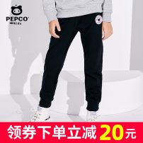 trousers Pepco / Piggy banner male 110cm 120cm 130cm 140cm 150cm 160cm 170cm trousers leisure time Official pictures Casual pants Leather belt middle-waisted cotton Don't open the crotch Cotton 100% Class B Summer of 2019