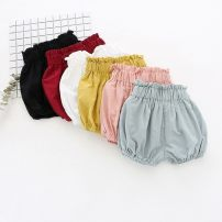 trousers Other / other female 73cm,80cm,90cm,100cm,110cm,120cm summer shorts Korean version No model Knickerbockers Leather belt middle-waisted Cotton and hemp Open crotch 12 months, 6 months, 9 months, 18 months, 2 years old, 3 years old, 4 years old, 5 years old
