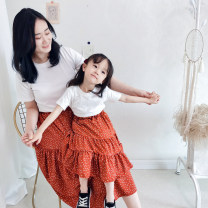 skirt Hello Memory female Other 100% summer skirt Korean version Dot Cake skirt other Class B Summer 2020