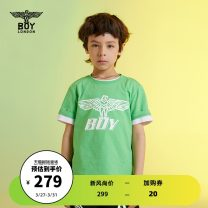 T-shirt Fluorescent green BOY LONDON 110cm 120cm 130cm 140cm 150cm 160cm neutral summer Short sleeve There are models in the real shooting nothing cotton Brand logo Cotton 100% J2121KC8053 Spring 2021 Four, five, six, seven, eight, nine, ten, eleven, twelve