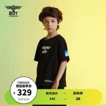 T-shirt black BOY LONDON 110cm 120cm 130cm 140cm 150cm 160cm neutral summer Short sleeve There are models in the real shooting nothing cotton Brand logo Cotton 100% J2121KC8045 Spring 2021 Four, five, six, seven, eight, nine, ten, eleven, twelve