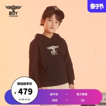 Sweater / sweater BOY LONDON black neutral 110cm 120cm 130cm 140cm 150cm 160cm spring and autumn No detachable cap Socket There are models in the real shooting cotton Brand logo Cotton 100% J2114KB8013 Spring 2021