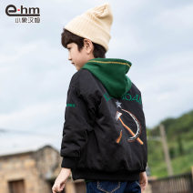 Cotton padded jacket male nothing other Little elephant ham black 110cm,120cm,130cm,140cm,150cm,160cm thickening Zipper shirt There are models in the real shooting Solid color other Class C other Polyamide fiber (nylon) 100% Cotton liner Polyester 100%