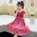 Dress K59-c-rose, j79-l-malachite female Other / other The recommended height is 100-110cm for 110, 110-120cm for 120, 120-130cm for 130, 130-140cm for 140, 140-150cm for 150 and 150-160cm for 160 Cotton 100% summer princess Short sleeve Solid color cotton A-line skirt F6870 2 years old