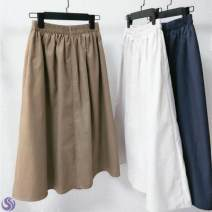 skirt Winter 2016 M92-100kg, xl115-120kg, xs80-85kg, s85-92kg, l100-115kg L41-n-white, u62-b-khaki, m61-r-navy longuette Versatile A-line skirt Solid color Type A Other / other