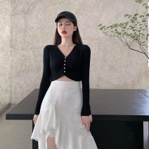 skirt Spring 2021 S. M, average size Black T-shirt, white skirt Mid length dress commute High waist Irregular Solid color Type A 18-24 years old 9681# 51% (inclusive) - 70% (inclusive) other Other / other other Asymmetry, stitching, lace Korean version