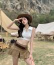 skirt Summer 2021 S. M, average size White vest, black vest, skirt + belt Short skirt commute High waist A-line skirt Solid color Type A 18-24 years old 31% (inclusive) - 50% (inclusive) other Other / other other Asymmetry, splicing Korean version