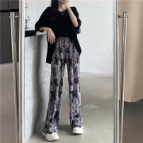 Casual pants Black T-shirt with dyed pants Average size Summer 2021 trousers Wide leg pants High waist commute Thin money 18-24 years old 51% (inclusive) - 70% (inclusive) Other / other other Korean version pocket