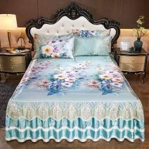 Bed skirt 120cmx200cm three piece bed skirt mat, 150cmx200cm three piece bed skirt mat, 180cmx200cm three piece bed skirt mat, 180cmx220cm three piece bed skirt mat, 200cmx220cm three piece bed skirt mat Others Other / other Plants and flowers Qualified products
