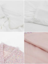 Dress Autumn 2020 Pink vest, white skirt, pink vest + white skirt S,M,L Short skirt Two piece set Long sleeves commute Polo collar Loose waist Solid color Single breasted A-line skirt shirt sleeve 18-24 years old Type A Korean version Bows, beads
