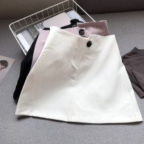 skirt Spring 2021 S,M,L White, black, pink purple Short skirt commute High waist A-line skirt Solid color Type A 18-24 years old FG158955 30% and below Other / other other Korean version