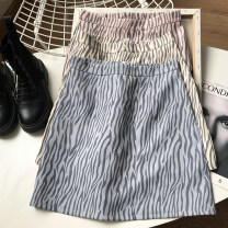skirt Spring 2021 S,M,L,XL Apricot, blue, pink Short skirt commute High waist A-line skirt Solid color Type A 18-24 years old FG416922 30% and below Other / other other Korean version