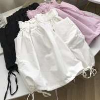 skirt Summer 2021 Average size Pink purple skirt, white skirt, black skirt Short skirt commute Natural waist A-line skirt Solid color Type A 18-24 years old SG417006 30% and below other Other / other other