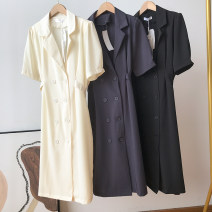 Dress Summer 2021 Short sleeve singleton  Medium length skirt commute other routine High waist Condom Solid color 25-29 years old other 30% and below other Type A FG310199 Other Other / other other One size fits all