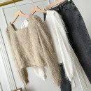 Wool knitwear Spring 2021 Average size Off white, brown Sleeveless other 30% and below commute V-neck Solid color FG309302 25-29 years old Other / other Button