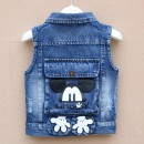 Vest neutral Cowekai / Kao Weijia spring and autumn routine No model Single breasted cotton Cartoon animation Other 100% other 12 months 18 months 2 years 3 years 4 years 5 years 6 years 7 years 8 years 9 years old