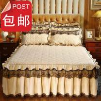 Bed skirt Others Gray, sapphire blue, light purple, beige, pink, charm purple, Pink Jade Other / other Solid color Qualified products