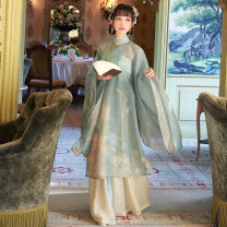 National costume / stage costume Summer of 2019 Vertical collar slant cardigan a Bao main waist a Bao spot one piece skirt a Bao spot vertical collar slant cardigan a Bao early September hair one piece skirt a Bao early September hair XS S M L XL SHF151025 More than thirteen Polyester 100%