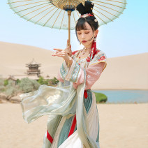 National costume / stage costume Summer of 2019 Flat collar shangru (two piece set) feitianle spot one piece lower skirt (6m swing) feitianle spot XS S M L XL SHF11985 More than thirteen Polyester 100% Pure e-commerce (online only)