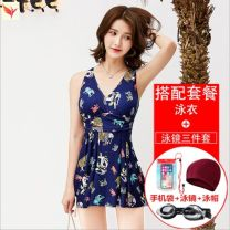 one piece  Other brands M (recommended 80-95 kg) cover the belly and show thin, l (recommended 95-105 kg), XL (recommended 105-110 kg) elegant back, 2XL (recommended 115-125 kg) fashionable and generous, 3XL (recommended 125-135 kg) No chest pad M84472 female Sleeveless Casual swimsuit