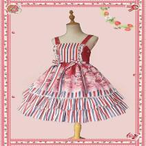 Cosplay women's wear Other women's wear goods in stock Over 14 years old Red stripe, pink, red wave point, waist bow is red, dark blue comic M,S,L Other See description
