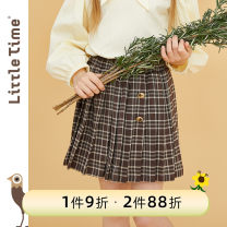 skirt 105cm 110cm 120cm 130cm 140cm 150cm Brown Plaid Little time female Polyester 97% polyurethane elastic fiber (spandex) 3% spring and autumn skirt solar system lattice A-line skirt blending TA1C-QA01 Class B Spring 2021