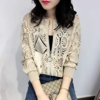 Lace / Chiffon Winter 2016 White, red, apricot M,L,XL,2XL,S Cardigan singleton  easy V-neck Other / other Hollowing out