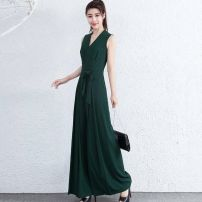 Casual pants Summer 2020 trousers Jumpsuit High waist Versatile routine 30-34 years old Other / other