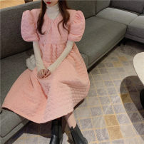 Fashion suit Winter 2020 Average size Apricot base, pink cotton skirt 18-25 years old
