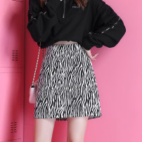 skirt Spring 2021 S M L XL 2XL Zebra A-line skirt Short skirt commute High waist A-line skirt Zebra pattern Type A 18-24 years old CHUNMU98995923 More than 95% Spring twilight other Pleated tie dyed zipper Other 100% Pure e-commerce (online only)