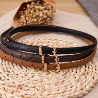 Belt / belt / chain Pu (artificial leather) Black, white, camel, coffee, red, sapphire, pink, 01 BLACK, 01 white, rose, 01 camel, 01 green female belt leisure time Pin buckle alloy pinkycolor  Other / other