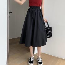skirt Spring 2021 S,M,L White, pink, purple, blue, yellow, black Mid length dress Versatile High waist Umbrella skirt Solid color Type A 18-24 years old 0126-00020 91% (inclusive) - 95% (inclusive) Other / other polyester fiber