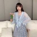 Women's large Summer 2020 Dress - blue, dress - purple, shirt - blue, shirt - purple Large L, large XL, large XXL, m, shirt M-L, shirt xl-xxl singleton  commute Korean version Q1098721 Other / other