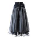 skirt Winter 2020 S,M,L,XL Dark grey, black, apricot longuette commute High waist Fluffy skirt Solid color Type A 25-29 years old Phoebe Hz / Phoebe Hz polyester fiber Gauze Retro