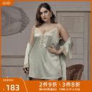 Nightdress emma rose 2XL 3XL 4XL 5XL 6XL sexy camisole Short skirt summer Solid color youth V-neck lace Spring 2020 Polyethylene terephthalate (PET) 92% polyurethane elastic fiber (spandex) 8% no