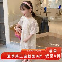 Dress Beige female yojia 80cm 90cm 100cm 110cm 120cm 130cm 140cm 150cm Other 100% summer Korean version Short sleeve Solid color other A-line skirt 21XQ123 Summer 2021 18 months, 2 years old, 3 years old, 4 years old, 5 years old, 6 years old, 7 years old, 8 years old