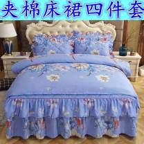 Bedding Set / four piece set / multi piece set Others Quilting Cartoon animation 128x70 Other / other polyester cotton 4 pieces 60 Bed cover type, bed skirt type, bed cover type Qualified products Cartoon style Sanding Reactive Print