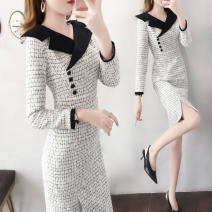 Outdoor casual suit Tagkita / she and others female 101-200 yuan one hundred and thirty point six zero S [within 90 kg recommended], m [90-100 kg recommended], l [100-110 kg recommended], XL [110-120 kg recommended], 2XL [120-130 kg recommended] White, off white fake belt, white big reverse winter