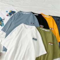 T-shirt M,L,XL,XXL Summer 2020 Short sleeve Crew neck easy Regular routine commute polyester fiber 86% (inclusive) -95% (inclusive) 18-24 years old Korean version youth Other / other