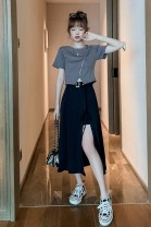 Fashion suit Summer 2020 S M L XL Grey T-shirt + black skirt single black skirt single grey T-shirt 18-25 years old Jielizhen JLZ09865465 96% and above Other 100% Pure e-commerce (online only)