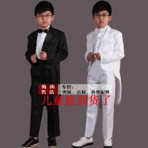 Suit Youth fashion Others White set with bend, black set with embroidery, black set with black edge, black set with bend, white set with embroidery, white set with white edge routine Baling collar Back middle slit spring Extra wide Triple double breasted banquet Other article numbers teenagers 2016