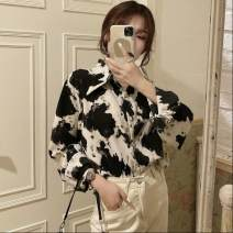 shirt Free freight insurance for black [high quality fabric] M,L,XL,2XL other 31% (inclusive) - 50% (inclusive) Polo collar Single row multi button routine Asymmetry, tie dyeing, printing