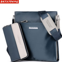 Men's bag The single shoulder bag oxford Other / other brand new leisure time leisure time zipper soft Small yes Zipper bag, mobile phone bag, certificate bag, sandwich zipper bag Solid color Yes Single root youth Vertical square polyester cotton letter Soft handle Three dimensional bag 10 inches