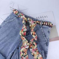 Belt / belt / chain cloth female belt Simplicity Single loop children Flower design printing 6cm weave Other / other 100cm