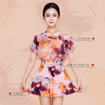 one piece  Suitable for skin XL [recommended body weight 100-120 kg] is quick drying, 2XL [recommended body weight 120-140 kg] is soft on the skin, 3XL [recommended body weight 140-160 kg] is good for self-cultivation yellow Skirt one piece With chest pad without steel support YFBTJ211203 female