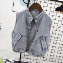 Vest neutral HENGGUAN spring and autumn routine No model zipper leisure time polyester fiber Solid color 100.00% polyester Class C Silk floss Cotton liner Winter of 2019 Chinese Mainland 3 months 6 months 12 months 9 months 18 months 2 years 3 years 4 years 5 years old